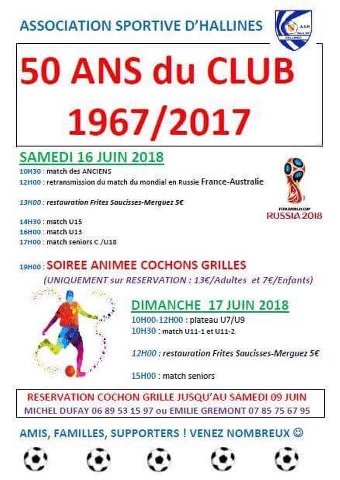 50 ans du club hallines