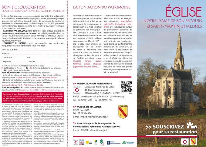 Brochure hallines eglise 1