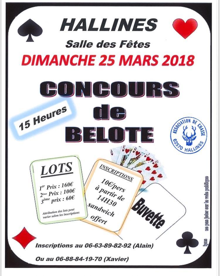 Concours de belotele 25 mars