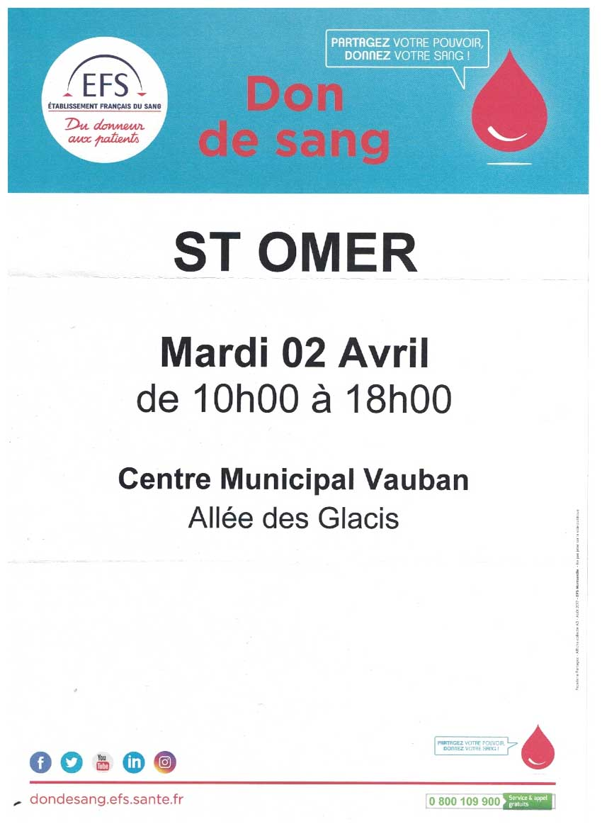 Don de sang 2 avril