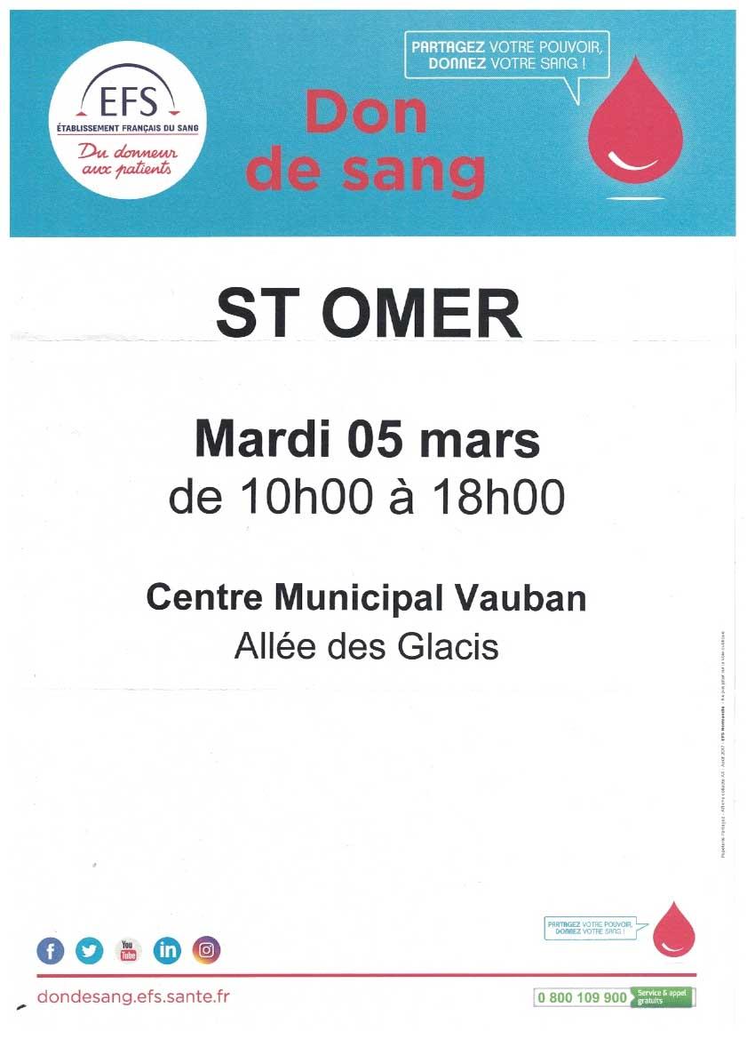 Don de sang 5 mars