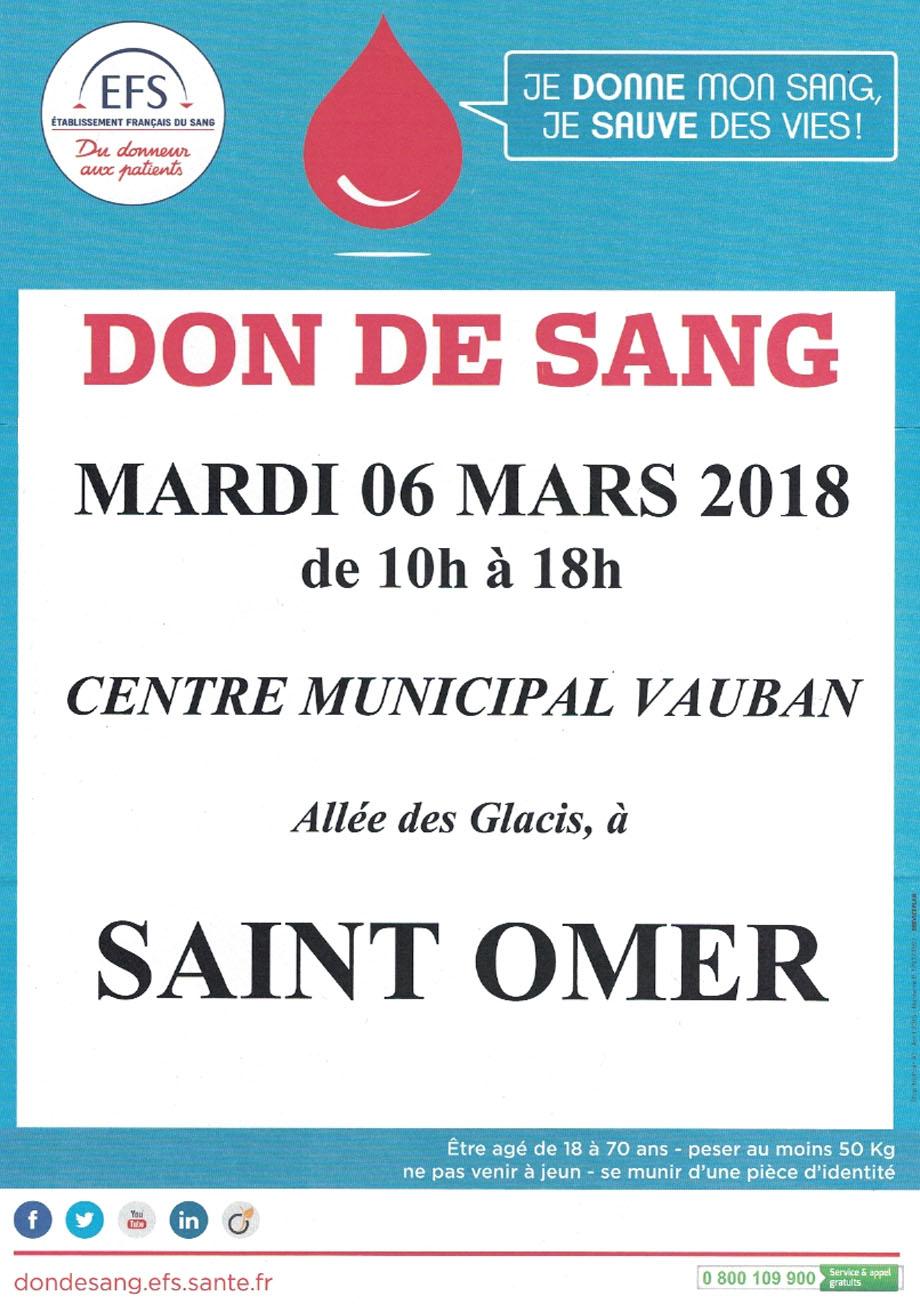 Don de sang 6 mars