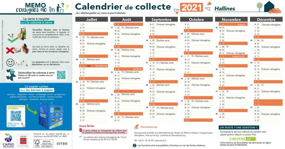 Hallines collecte 2021 2